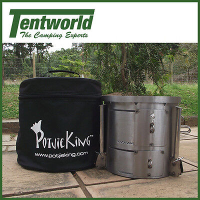Potjie King Stainless Steel Lightweight Stove / Braai Cooker + Carry Bag