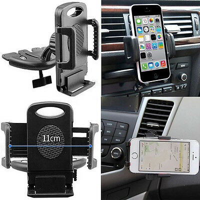 Car CD Slot Phone Mount Holder Stand Cradle For Mobiles iPhone Samsung Universal