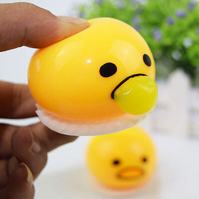 Party Kids Prank Novelty Vomiting Egg Vent Stress Relief Squeeze Nausea Toy Gift