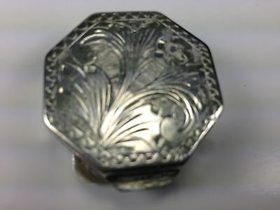 Antique German 800 Silver Embossed Pill/trinket Box