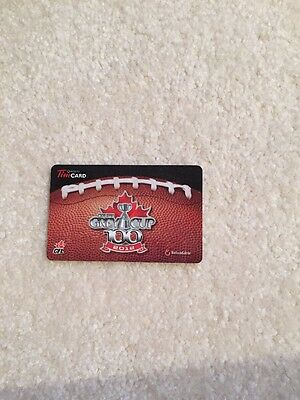 100 Grey Cup Tim Hortons Gift Card With No Value Fd31394