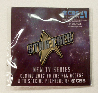 Star Trek TV Series on CBS Pin - SDCC 2016 San Diego Comic Con Exclusive RARE!