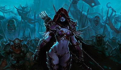 F1038 Free Mat Bag Sylvanas Windrunner WOW CCG Playmat Large Game Mouse Pad