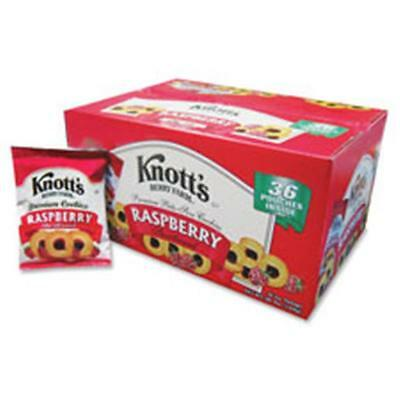 Biscomerica BSC59636 Knotts Raspberry-Filled Cookies, Bite-Sized, 36-2oz pouches