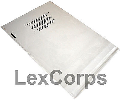 Suffocation Warning Clear Poly Bags 1.5 mil Self Sealing Cello Bags - All Sizes
