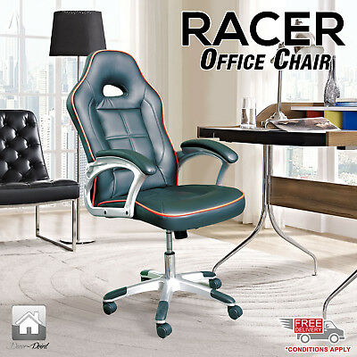 New Executive PU Leather Sporty Racer Office Computer Desk Chair