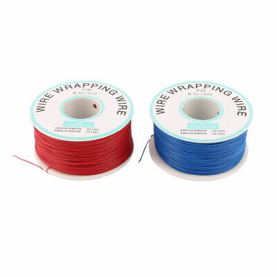 2 Pcs High Temperature Resistant Wraping Wire B-30-1000 Blue Red