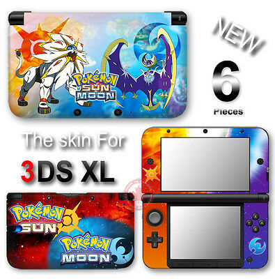 Pokemon Sun Moon Go Popular Skin Sticker Vinyl Cover Decal for Original 3DS XL