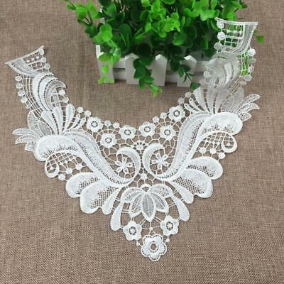 Vintage Embroidered Lace Trim Collar Neckline Lace for DIY Sewing Crafts