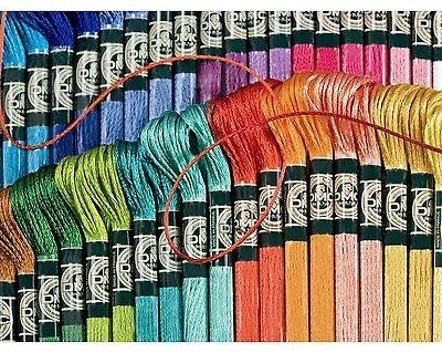 5 skeins DMC Thread stranded cotton. Your choice of colours.