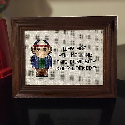 Stranger Things Dustin Cross Stitch Picture Framed Eleven The Upside Down 11