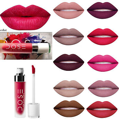 BOXED Dose 12 Colors Matte Waterproof Makeup Lipstick Pencil Lip Gloss Cosmetics