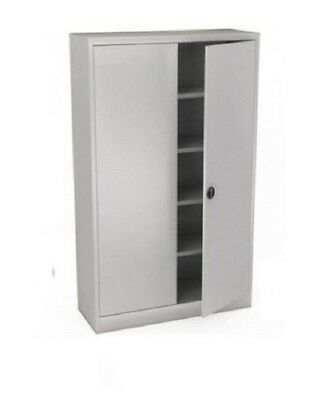 metal office storage cabinet cupboard 4 / 8 shelves width 45cm
