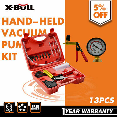 X-BULL Hand Held Brake Bleeder Tester Set Bleed Kit Vacuum Pump Car Motorbike