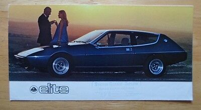 LOTUS Elite orig 1976 1977 UK Mkt sales brochure