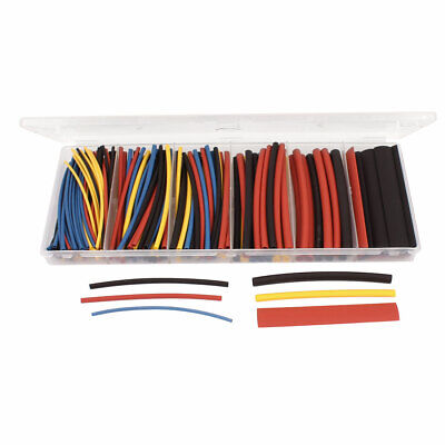 160 Pcs Heat Shrink Wire Cable Tubing Tube Sleeving Wrap Assorted Sizes Kit