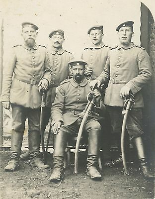 German WW1 Photograph, Soldiers, Uniforms, Swords, Group, 1914-1918  (147)