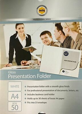 Marbig A4 Presentation Folder Gloss - 50 Pack