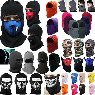 SNOOD 6 in 1 Winter warmer Fleece Mens scarf BLACK Hood Balaclava Neck Face Mask