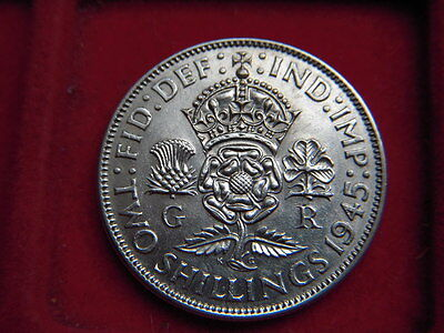 1945  George V1  Florin In A Very High Grade With Mint Lustre