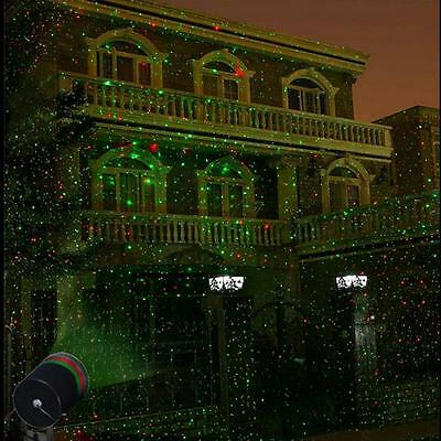 Outdoor Waterproof Stars Projector Laser Light Show Home Garden Christmas Decor!