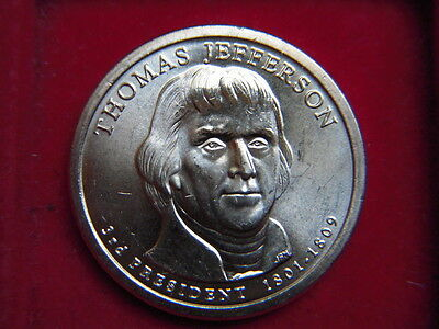 A One Dollar Coin From The Usa To Commemorate Thomas Jefferson 1801-1809