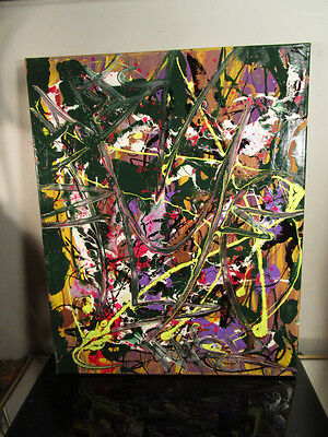original painting canvas graffiti abstract signed by musk yai signed 16x20 2016