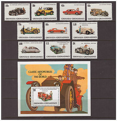 "Grenada Grenadines 1983 Model ""T"" Ford Car  mint set & sheet SG552-562"