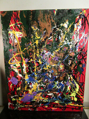 original painting canvas abstract signed by musk yai signed 16x20 nyc 2016