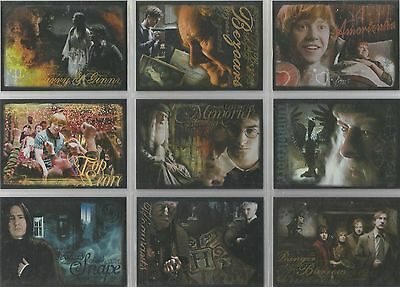 Harry Potter Half Blood-Prince Update - 9 Card Foil Puzzle Chase Set #R1-9