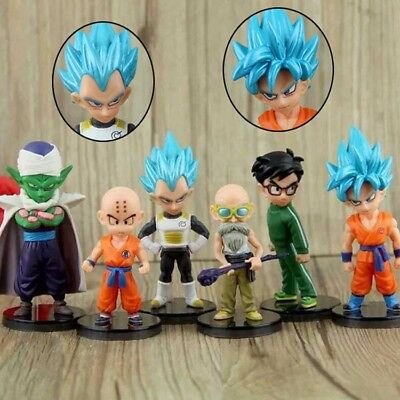 DBZ Dragon Ball Z Super Saiyan Goku Vegeta Piccolo WCF Figure Toy Set of 6pc G3