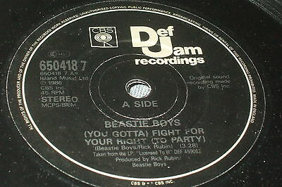 """Beastie Boys – Fight For Your Right 7""""   1987      OLD SKOOL HIP HOP!!"""