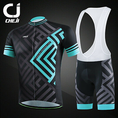 Maze CHEJI Mens Mountain Bike Bib Shorts & Cycle Jersey Top Set Team Cycling Kit