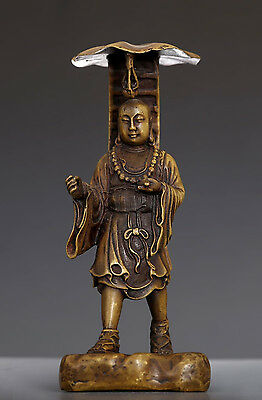 Amazing Old Chinese Ancient Bronze Buddha Statue Collection NA247