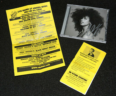 """Alicia Keys Signed Autographed Auto Here Cd From Signing & Voucher """"holy War"""""""
