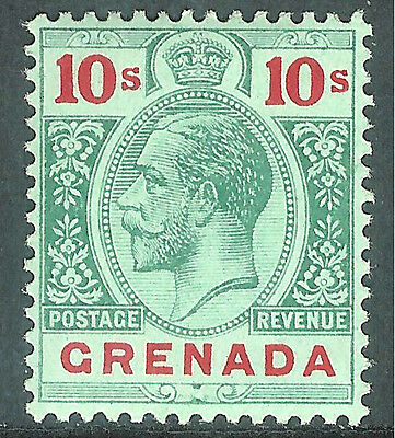 Grenada 1913 green/red on green 10/- mint SG101