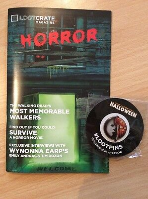 Halloween Lootcrate - October Magazine And Loot Pin - Badge - Loot Crate