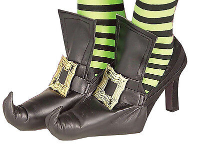 Witch Shoe Covers with Gold Buckle