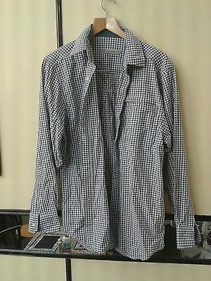 Craghoppers Nosquito Men Trekking Shirt White with Blue check lines Size M