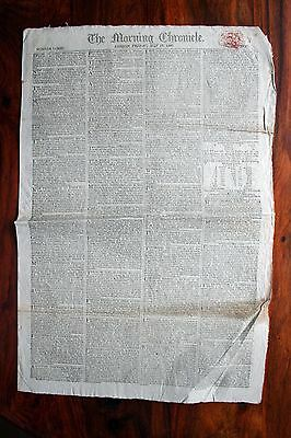 The Morning Chronicle Original Newspaper July 17Th 1807 Napoleonic Wars