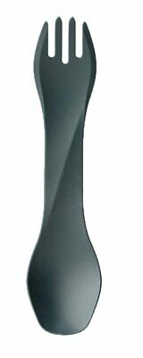 Humangear GoBites Uno, Combination Fork & Spoon, BPA-Free, Gray #HG0400
