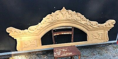Massive Oak Furniture Crown Pediment Mirror