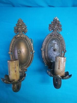 Two Antique/Vintage  Wall Mount Light Sconces                               c208