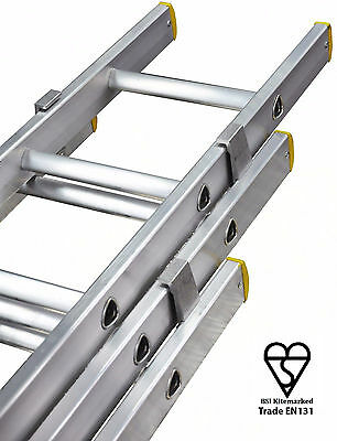 Triple & Double extension ladders, trade ladders British made aluminium Ladder