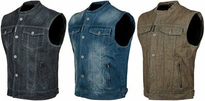 Speed & Strength Mens Soul Shaker Armored Denim Vest