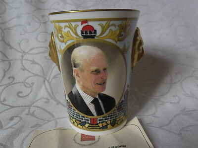 Caverswall Lionhead Beaker, Duke of Edinburgh 85th Birthday 2006