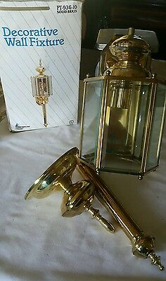 "Vtg.Solid Brass Decorative Wall Fixture ""New"""