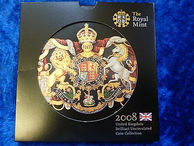 Royal Mint 2008 Brilliant Uncirculated Coin Collection