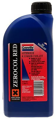 12x Granville 2558 Zerocol Red Anti-freeze 1 Litre Genuine Quality Replacement