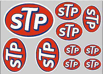 Stp Sticker Set - Sheet Of 10 Stickers - Decals